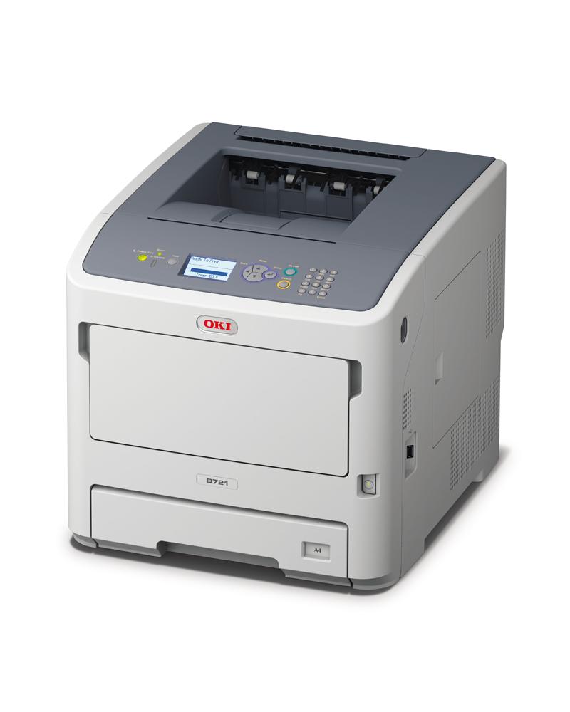 OKI MC721dn melnbalts printeris
