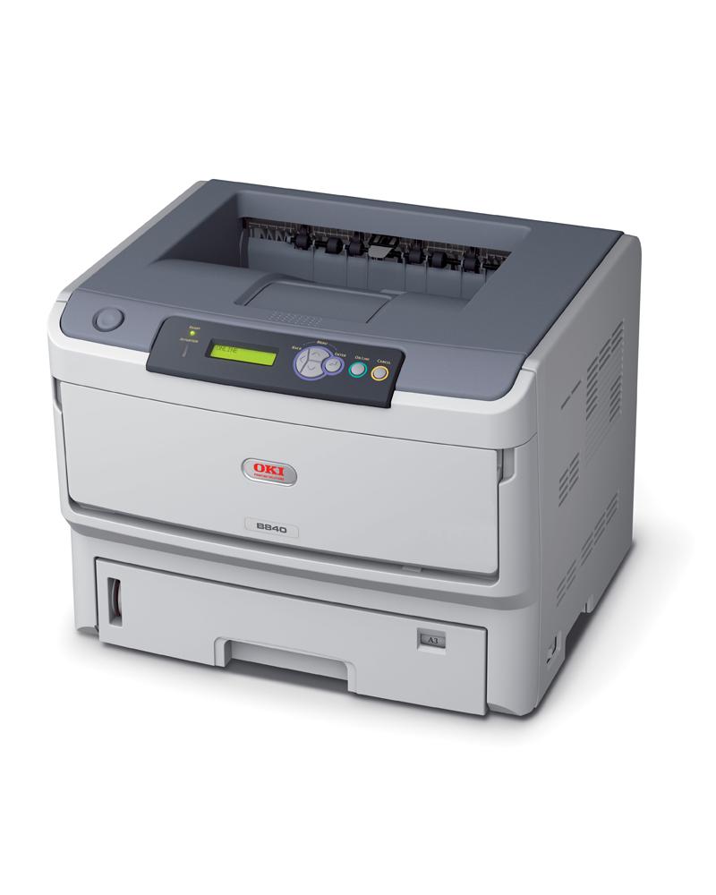 OKI MC840dn melnbalts printeris
