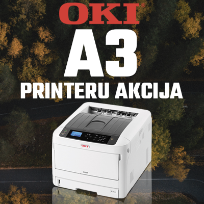 OKI A3 krāsu printeru akcija