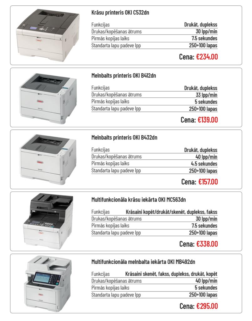 OKI drukas iekārtu akcija