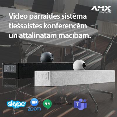 Video pārraides sistēma attālinātam darbam no mājām