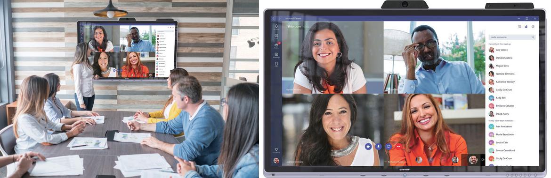 Sharp PNCD701 interaktīvais displejs sapulcē