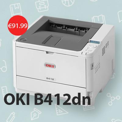 OKI B412dn printera akcija