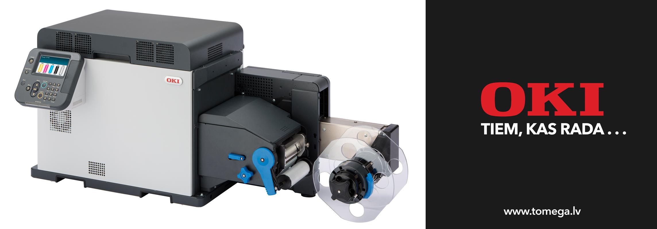 OKI Pro1050 etiķešu printeris