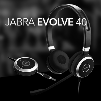 Jabra Evolve 40 austiņas attālinātam darbam, distances mācībām un mūzikai