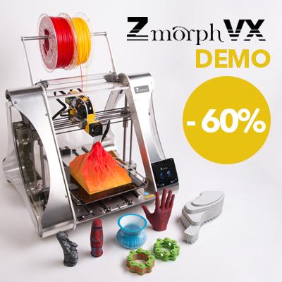 Zmorph VX DEMO 3D printera izpārdošana