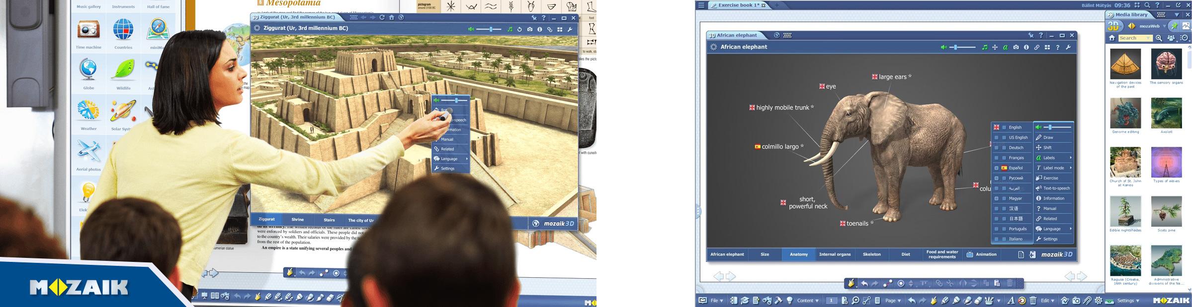 mozaBook interaktīvs izglītības rīks izglītības iestādēm