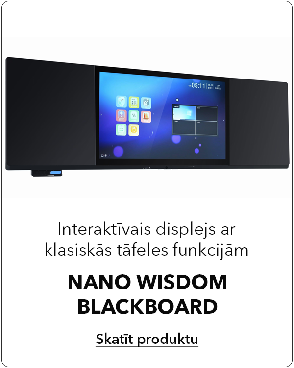 Interaktīvais displejs ar klasiskās tāfeles funkcijām Nano Wisdom Blackboard