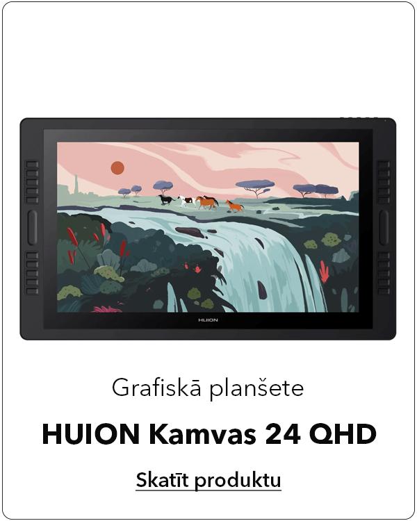 Grafiskā planšete HUION Kamvas 24 QHD darbam ar Photoshop Illustrator un Corel Draw