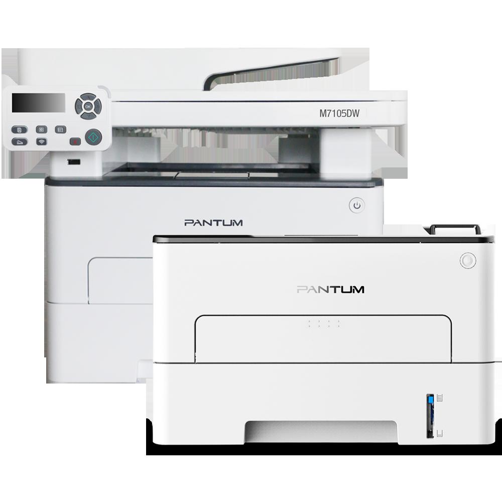 PANTUM 7105DW un 3305DW drukas iekārtas zemas cenas toneriem, lēti printeri
